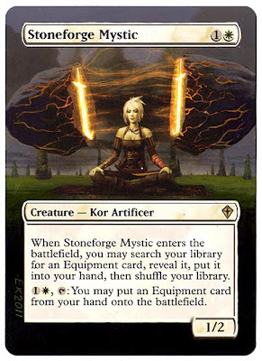 Stoneforge Mystic Altered Art MTG Cards Magic the Gathering Altered Artwork Magic the Gathering altered art Gallery Eric Klug Mtg altered gallery