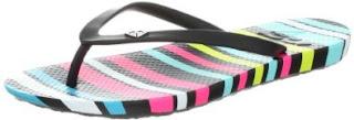 Roxy Women's Cabana II Flip Flop,Black/White/Black,8 B US
