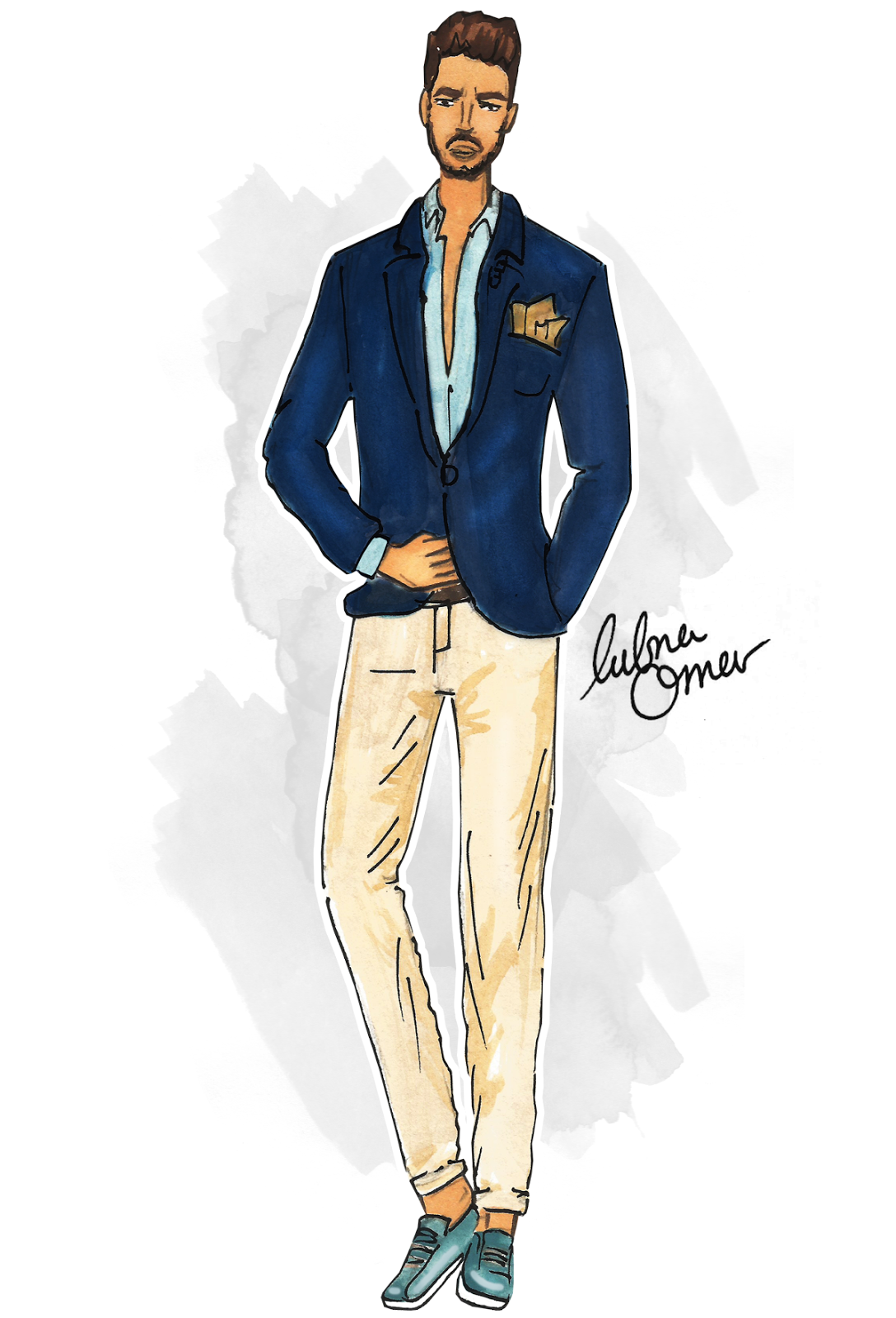 Mariano Di Vaio illustration by Lubna Omar