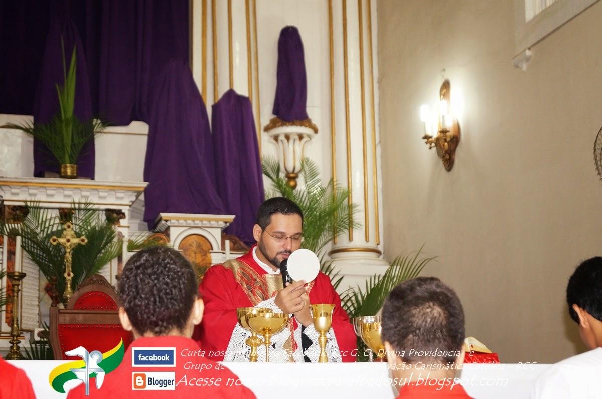 Missa Solene do Domingo de Ramos após Procissão na parte da Manhã em 13/04/2014