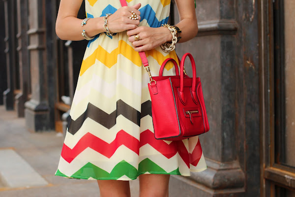 atlantic pacific fashion zig zag chevron dress color celine