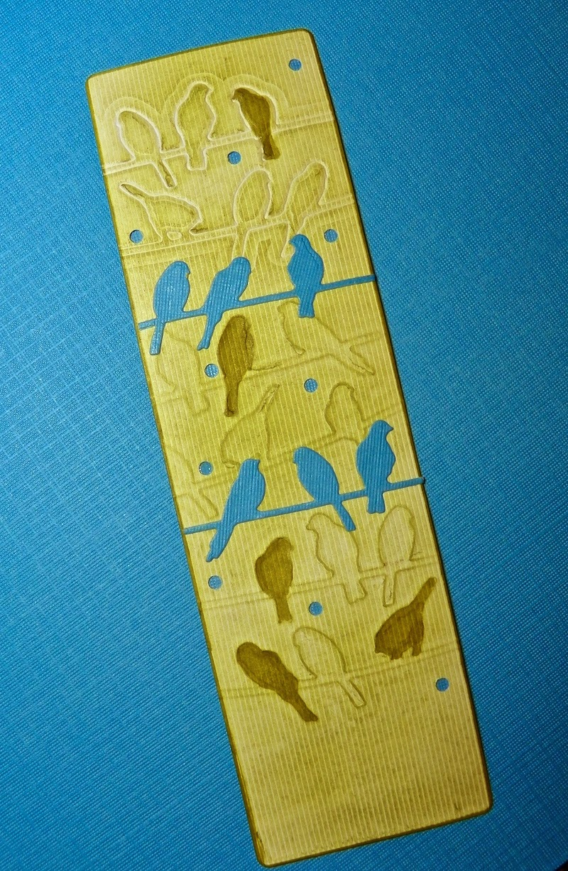 embossed paper bookmark lisa fulmer
