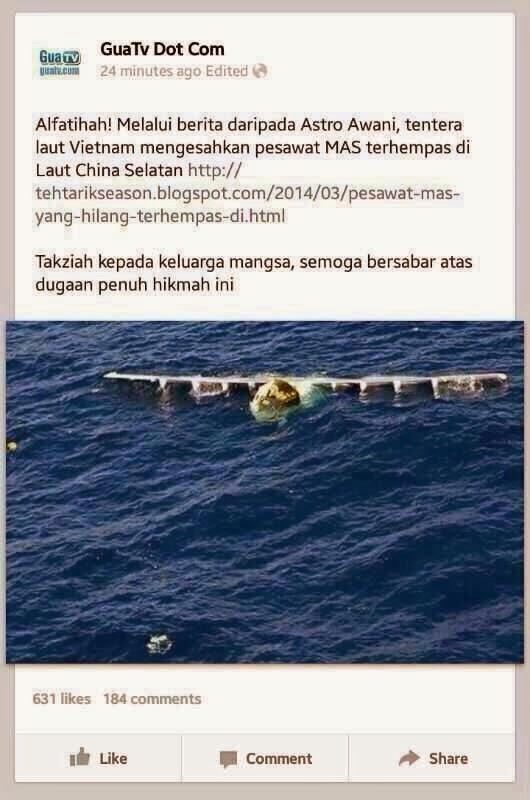 gambar kapal terbang mas terhempas di dasar laut, mas airlines terhempas di laut china selatan, pesawat mh370 terhempas, gambar keadaan pesawat mas mh370 di laut china selatan, guatv, guatv kongski gambar mas terdampar di lautan, gambar kapal terbang mh370 di lautan, mh370 dijumpai