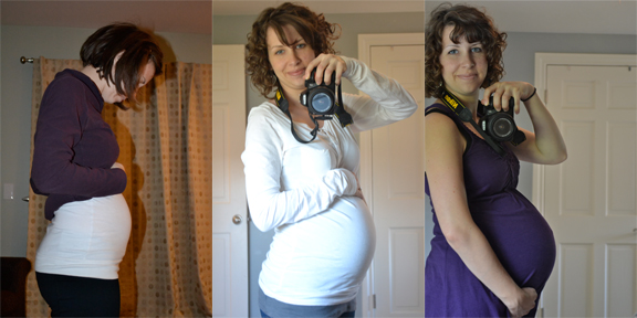 I did a belly progression