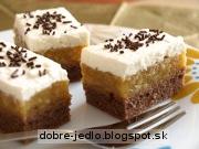 Jablkový koláč so šľahačkou - recept