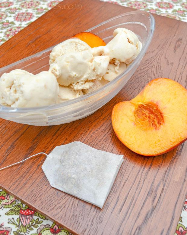 No Churn Peach Tea Ice Cream