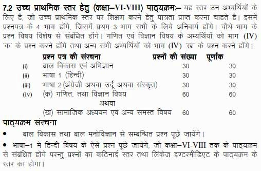 Revised UPTET Question Paper Pattern 2014 UP TET Exam Paper 1 Primary