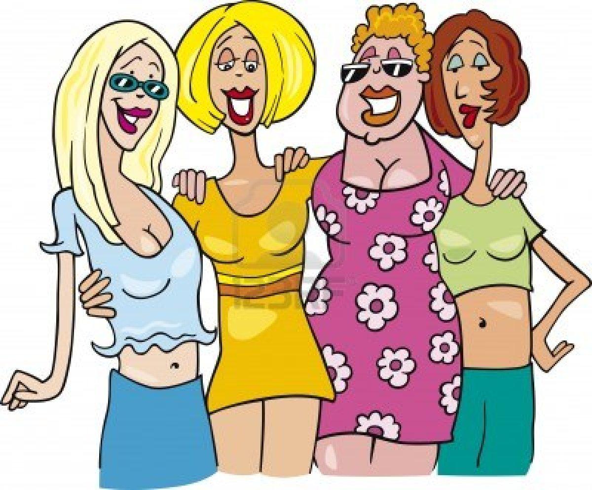 dibujos animados de mujeres:
