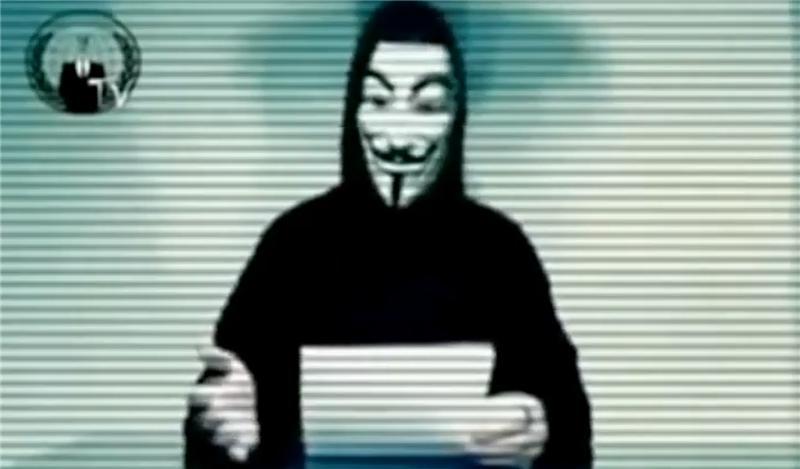 Хакеры, называющие себя представителями движения Anonymous, взломали третье
