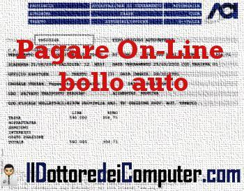 pagare online bollo auto