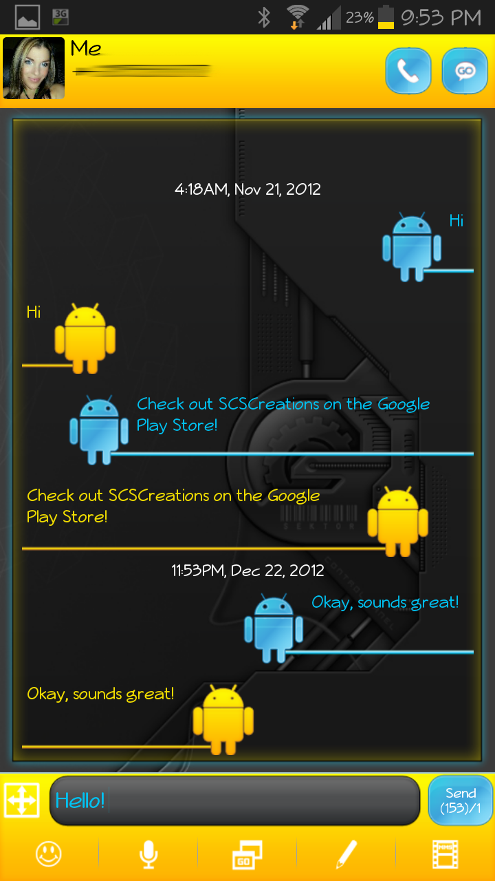 GO SMS THEME - Android Tech - $1.99