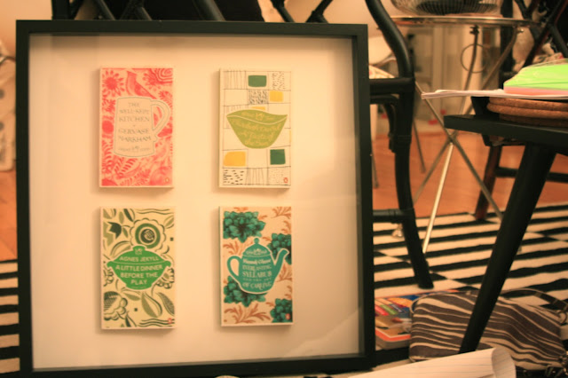 Coralie Bickford-Smith designs in a shadowbox project, Kitchen décor
