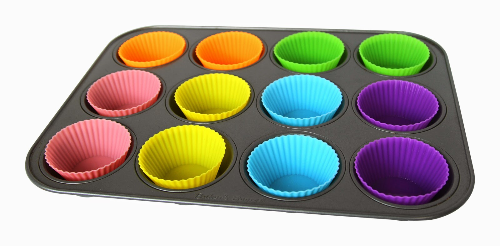 Silicone Baking Cups - 24 Pack - 6 Vibrant Colors