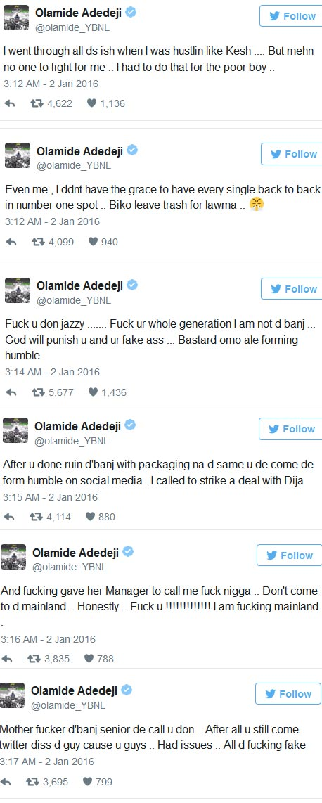"Olamide Takes His Headies Awards Anger To Twitter, Calls Out Don Jazzy And Says ""I'm Not D'banj"""
