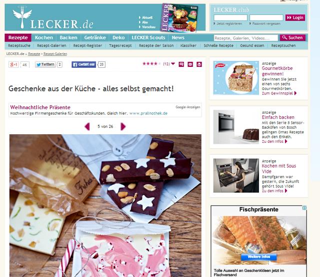 lecker.de: Geschenke aus der Küche