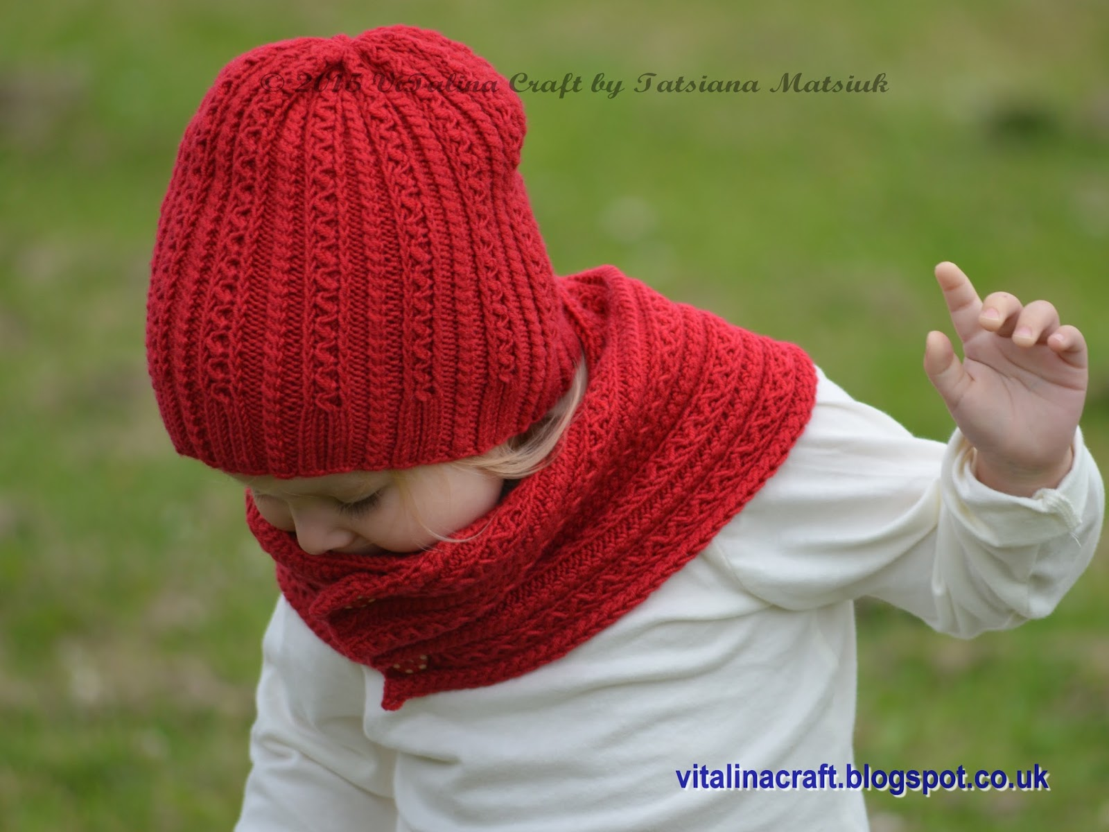 Knitting Patterns Scarves And Hats : Tiny Cables Hat and Scarf ViTalina Craft