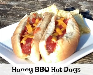 Honey BBQ Hot Dogs