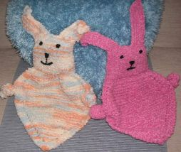 Buddy Blanket Knitting Pattern : Knitting Galore: Baby Bunny Blanket Buddy