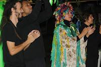 Os atores Ivo Bernardo, Marcos Alexandre, Nara Zeitune e Jeanette Albuquerque