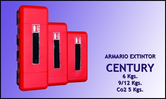 Armario portaextintor CENTURY, 6-9/12 y Co2
