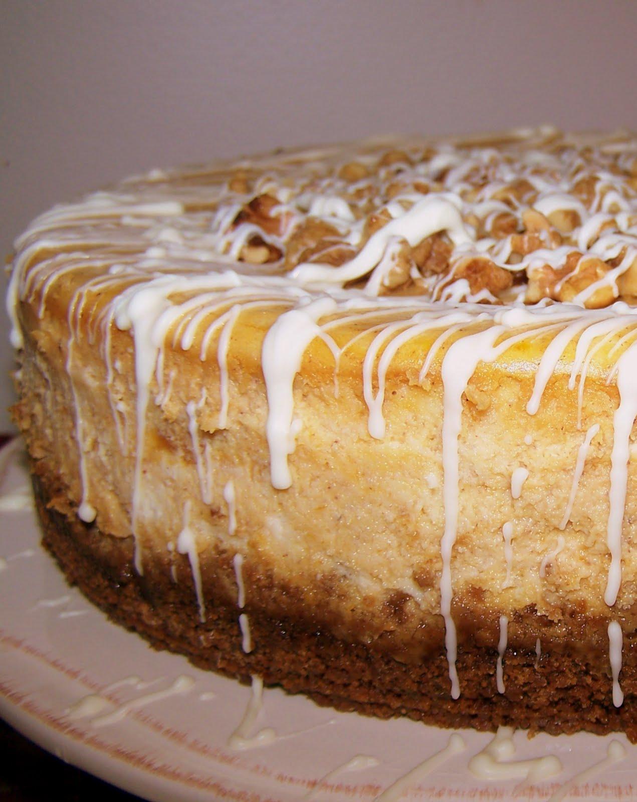 TheKitchenCookie: White Chocolate Pumpkin Cheesecake and a Giveaway