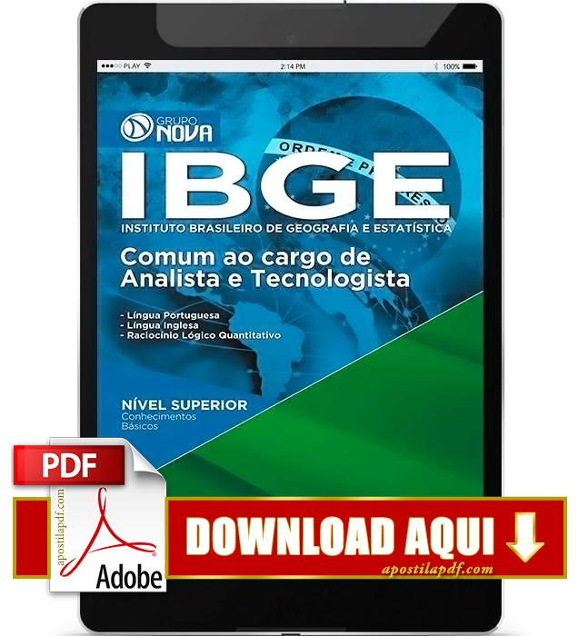 Apostila IBGE Analista e Tecnologista PDF Download