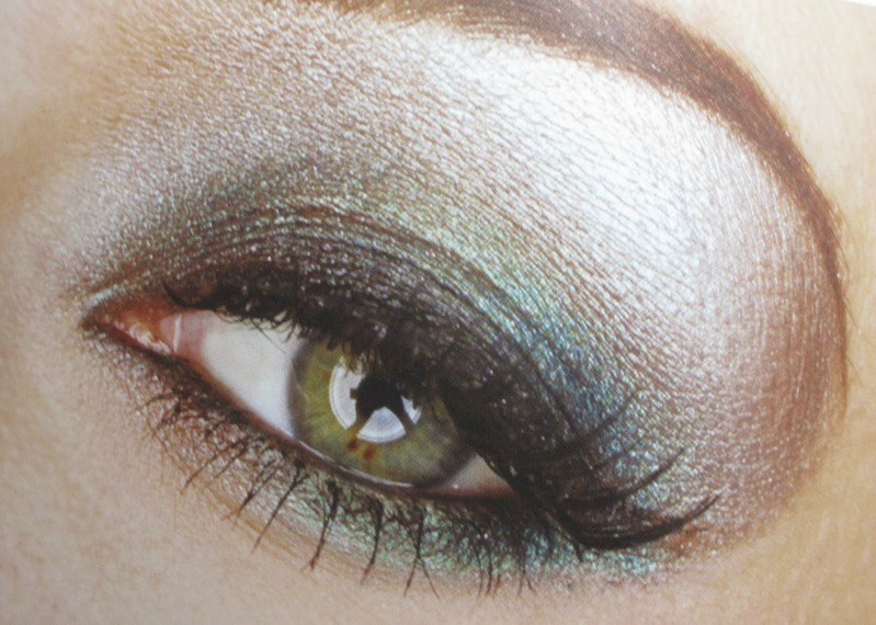 Kendra's wintery look from 500 Eye Makeup Designs: Inspired and Inventive Looks for Every Mood and Occasion