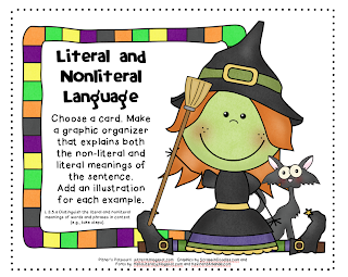 Pitner's Potpourri: Literal and Nonliteral Language -- Halloween ...