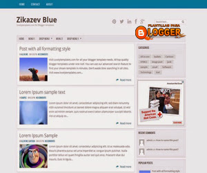 Zikazev Blue blogger template