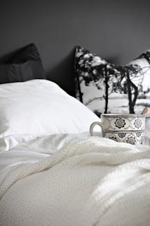 Desain Interior Kamar Tidur Wanita Dengan Dinding Hitam