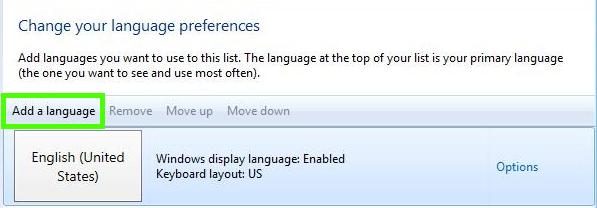 Cách thay đổi ngôn ngữ trong Windows 8