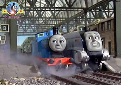 Thomas and friends Edward the Great story Spencer train races against slower Edward the blue engine