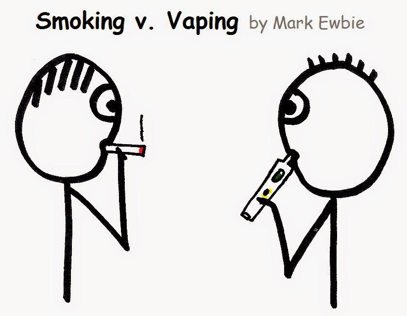 vaping v smoking cartoon