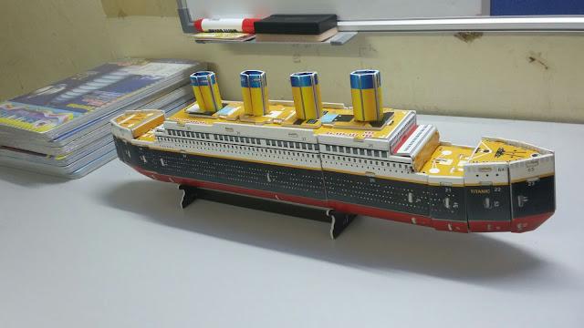 titanic 3D puzzle