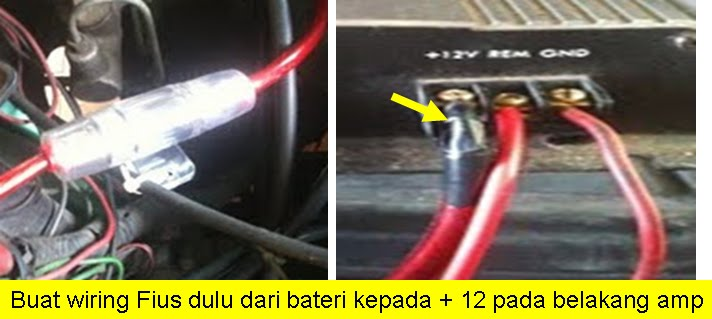 Fire Starting Automobil  Diy Pasang Head Unit Dan Power Amp