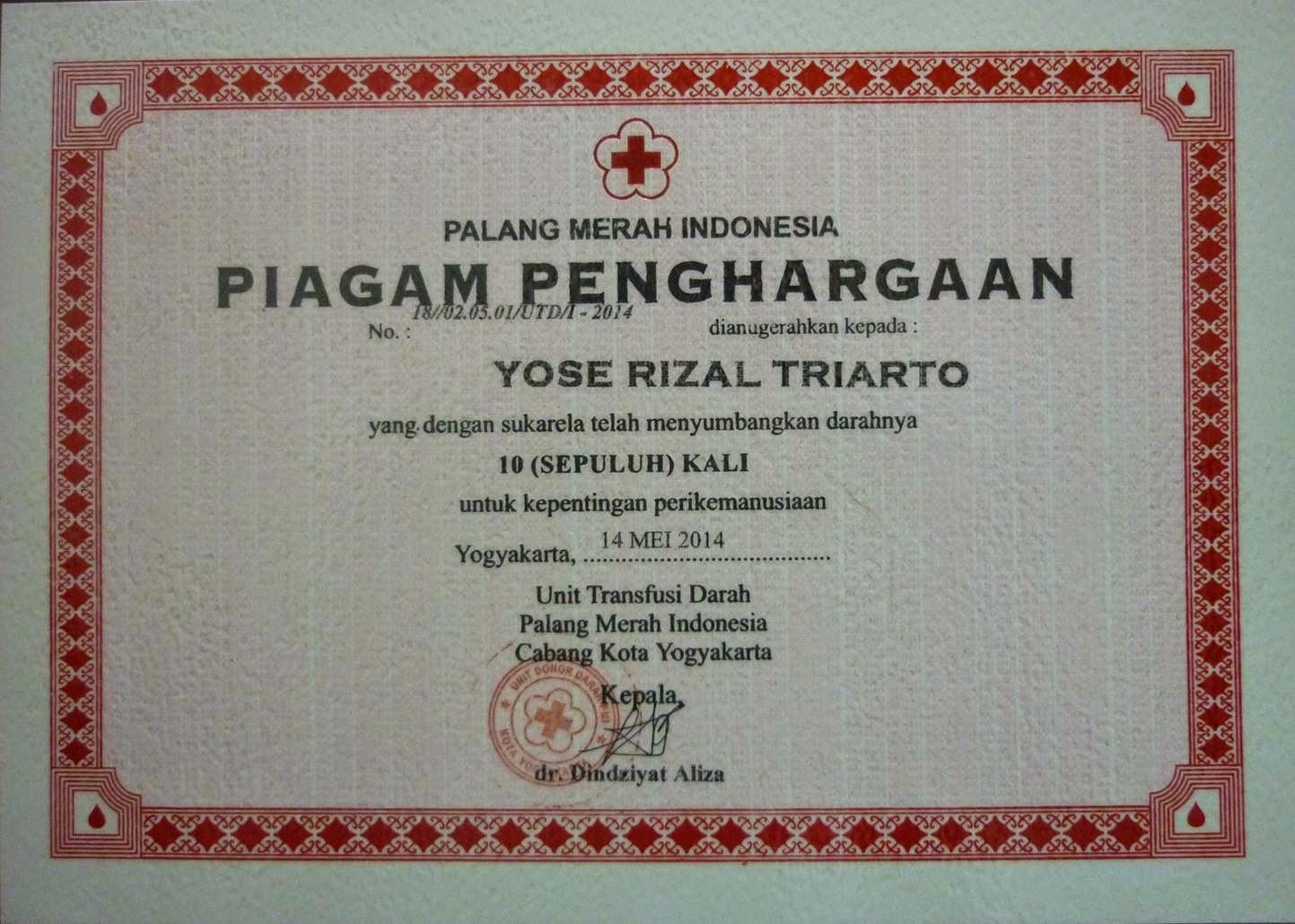 Donor Darah 10x PMI Kota Yogyakarta