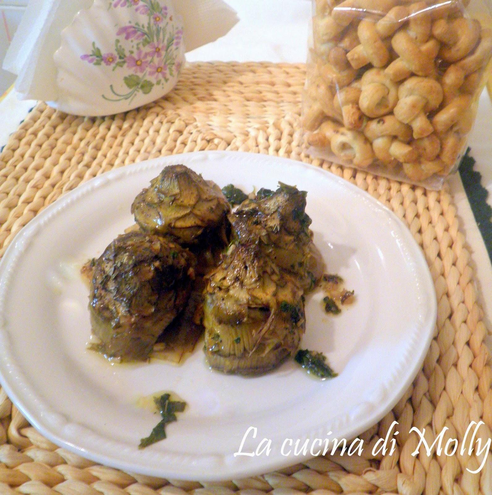 La cucina di molly carciofi alla romana for La cucina romana