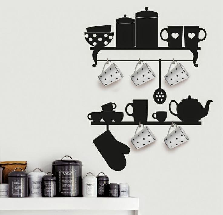 Muebles y Decoración de Interiores: Novedosos sticker para decorar ...