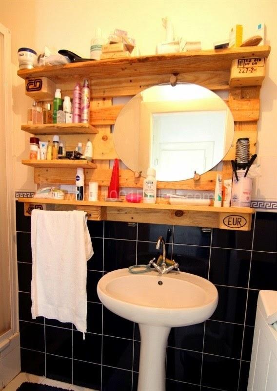 Riciclo pallet arredare il bagno a costo zero - Il bagno magazine ...