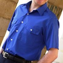 Ampliar imagen : Camisa Uniforme de caballero - Manga corta - 2 bolsillo - NORVIL