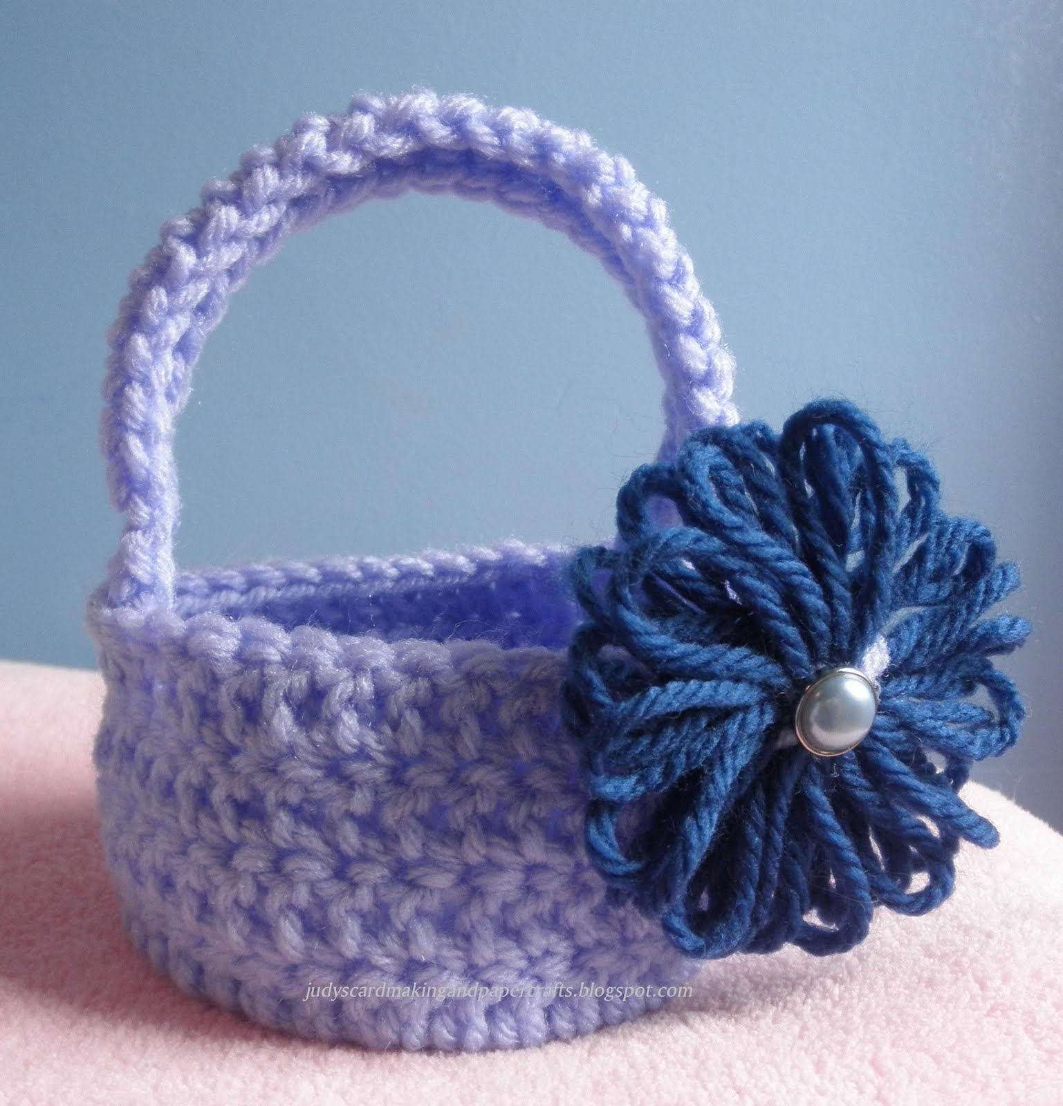 Crocheted basket!