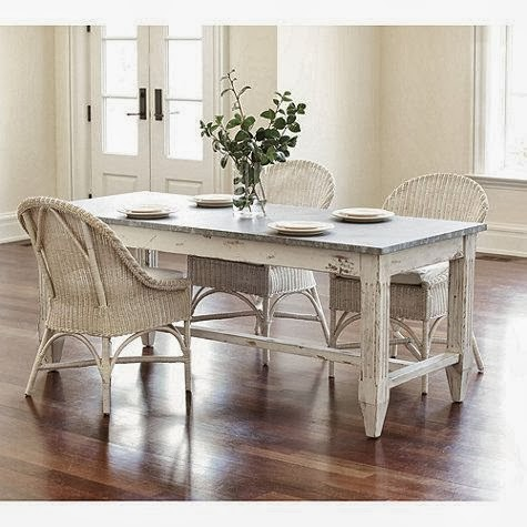 Salt marsh cottage beach house dining part 1 tables for Ballard designs dining room