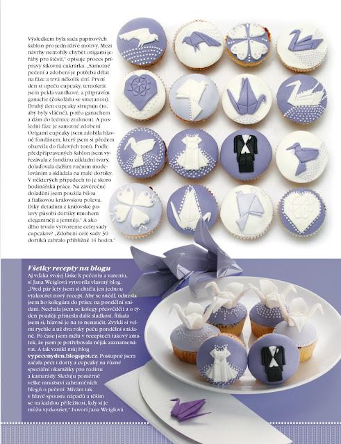 Svatebni origami cupcakes