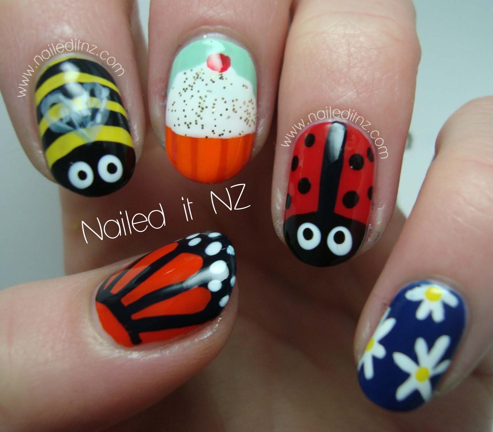 Skittle nail art - children\'s version!