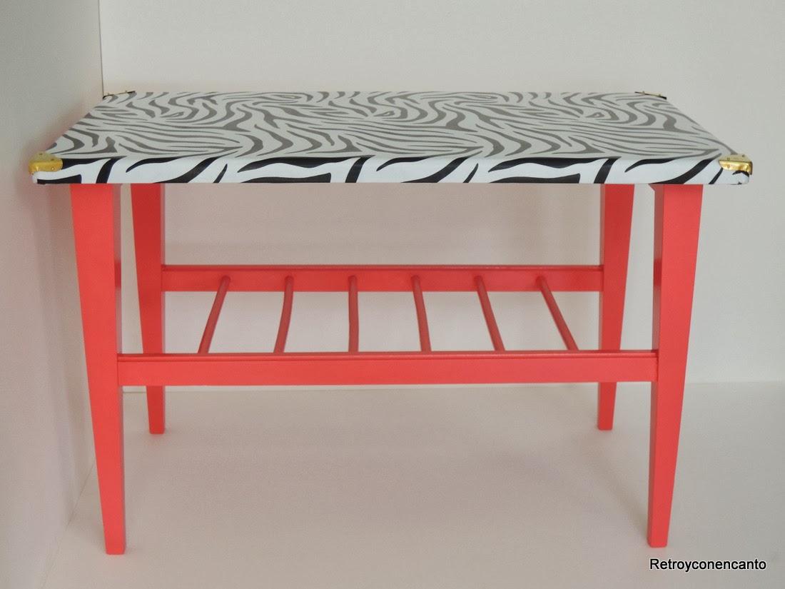 Rastro con encanto mesita animal print - Decoupage su mobili in formica ...