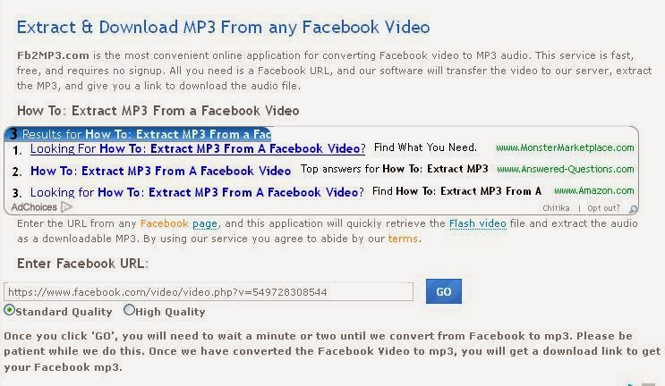 how to convert facebook video to mp3 facebook trick. Black Bedroom Furniture Sets. Home Design Ideas