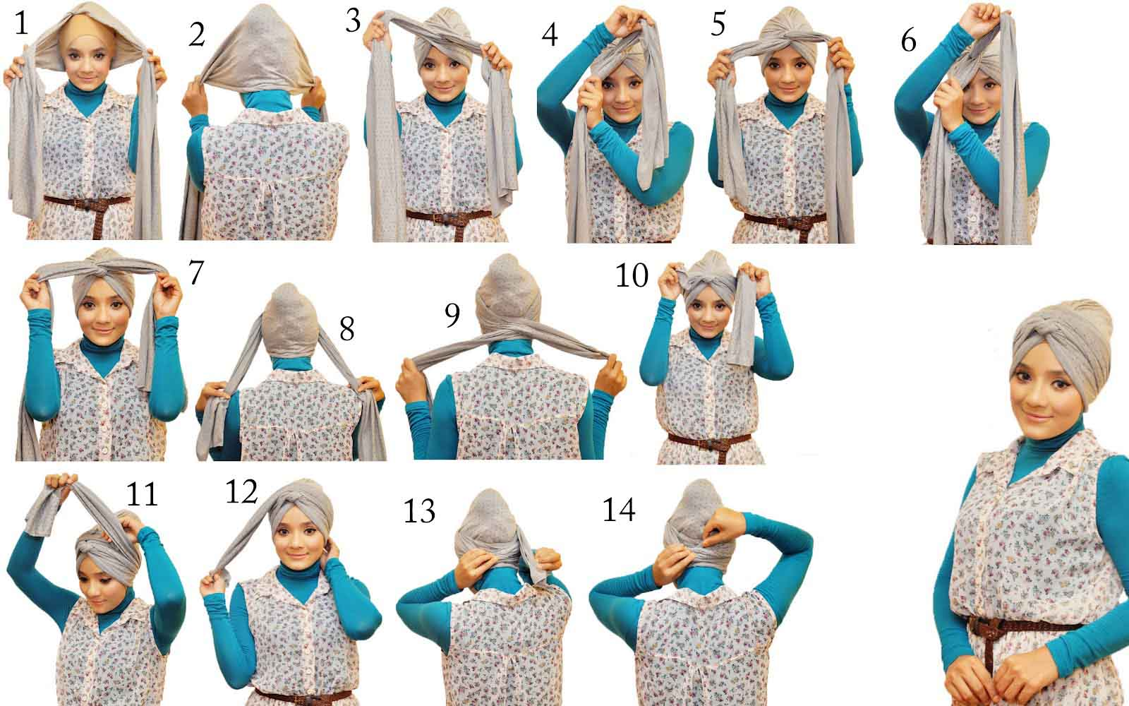 Download image Modern Jilbab Turban Style Tutorial PC, Android, iPhone ...