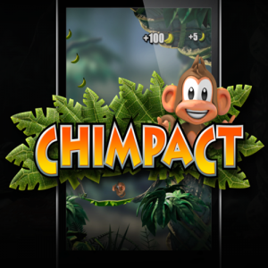 Playing with a chimpanzee on Chimpact, game and Funny to android