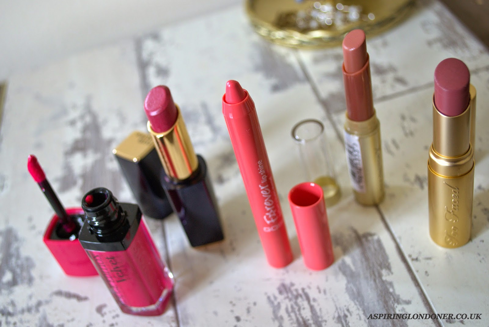 Spring Lipstick Reviews ft Bourjois, Too Faced, GOSH, Estee Lauder, Max Factor - Aspiring Londoner