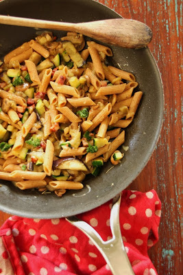 Quick Vegetables and Wholemeal Pasta